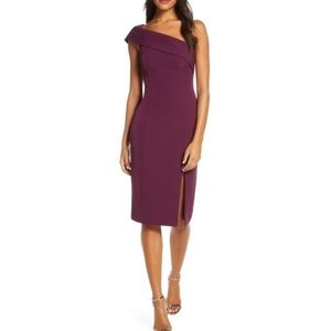 NWT Eliza J Plum Off The Shoulder Dress